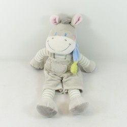 Doudou donkey NICOTOY gray...