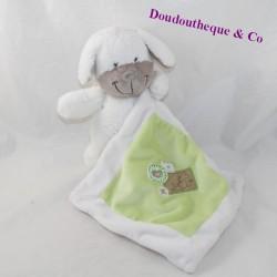 Doudou handkerchief dog NICOTOY white green