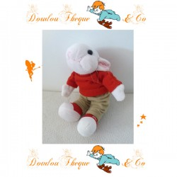 Peluche Souris STUART LITTLE  t-shirt rouge pantalon kaki 18 cm