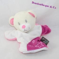 Doudou puppet bear TOM & ZOE purple