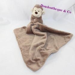 Doudou handkerchief monkey JELLYCAT brown