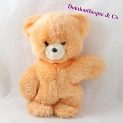 Teddy bear orange vintage tongue drawn
