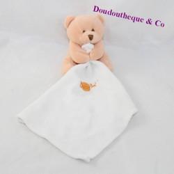 Doudou handkerchief bear BABY NAT' orange