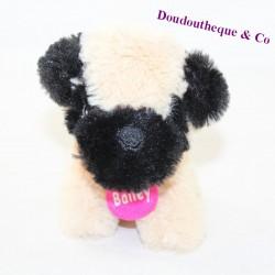 Plush dog ZDT Bailey beige black collar pink