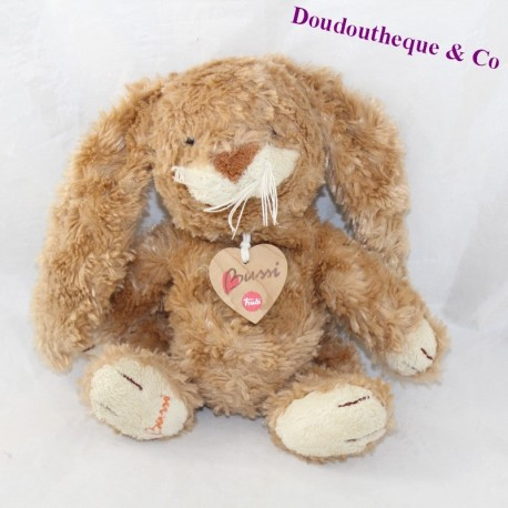 Plush rabbit TRUDI Bussi beige medallion heart