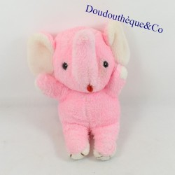 Plush elephant CUDDLE WIT pink vintage pulls the tongue red 24 cm