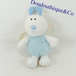 Plush bee LUMINOU JEMINI white and blue 21 cm