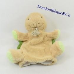 Doudou puppet turtle HISTORY OF GREEN BEAR HO2023 22 cm