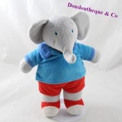 Plush elephant Badou LANSAY The adventures of Badou