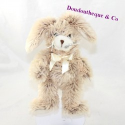 Plush rabbit GIPSY beige knot to his neck