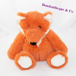 Plush hot water bottle fox WARMIES microwave red white