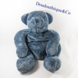 Plush bear DPAM blue sitting From the same to the same 40 cm