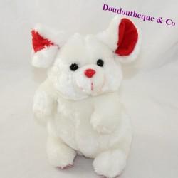 Plush mouse EXOMONDE white red