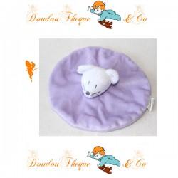Flat Doudou mouse purple 17 cm round wheat GRAIN