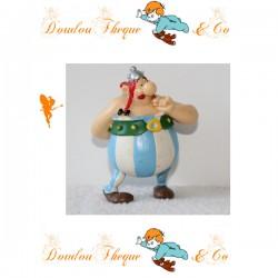 Figurine Obélix PLASTOY Goscinny-Uderzo 2002 Astérix et Obélix fleur dans le dos 7 cm