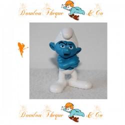 Figurine Schtroumpf Grognon SCHLEICH  bleu et blanc en pvc 5 cm le film