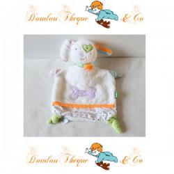 Doudou flat dog BABYSUN Harmony os purple pea Blanky sponge 25 cm