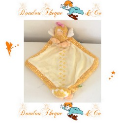 Doudou flat yellow 28cm LILOO CREATIVTOYS hen