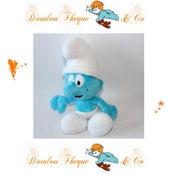 Peluche Schtroumpf  THE SMURFS  bleu et blanc 2012 United Labels 30 cm