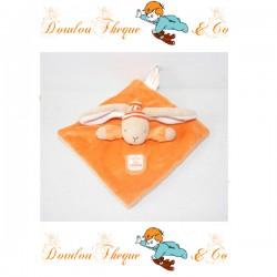 Doudou plat Lapin BUROMAC BABY FOLLY orange 19 cm
