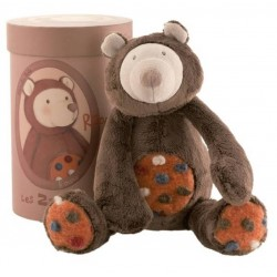 Peluche Rooa ours MOULIN ROTY Les Zazous ours marron 33 cm