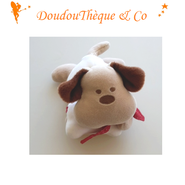 peluche chien corolle avec os 15 cm sos doudou. Black Bedroom Furniture Sets. Home Design Ideas