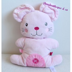 Don semi flat mouse pink cross NICOTOY 26 cm