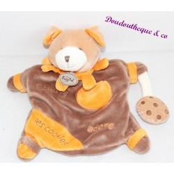 Doudou marionnette chien BABY NAT' Charly adore les cookies marron orange