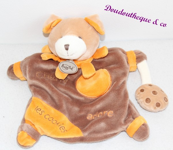 doudou marionnette chien baby nat 39 charly adore les cookies marron. Black Bedroom Furniture Sets. Home Design Ideas