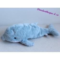 Peluche Dauphin GIPSY  bleu 34 cm