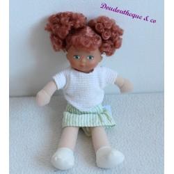 Poupee COROLLE baby Doll habillé rousse frisé 20 cm
