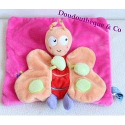 Doudou flat everything simply Butterfly / pink and orange CASINO