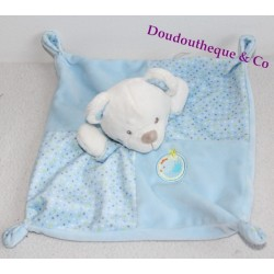 Flat Doudou Bear MOTS BLUE bird coat of arms 4 knots