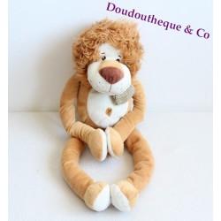 Peluche doudou Lion MAXITA pantin longues jambes ami jungle 50 cm