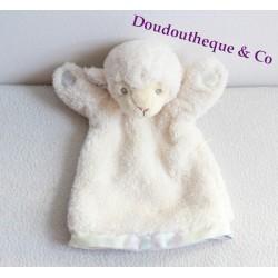 Doudou marionnette Mouton BURBERRY Baby Touch blanc créme