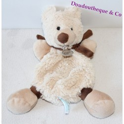 Doudou Teddy bear BABY NAT ' beige scarf Brown BN940 24 cm
