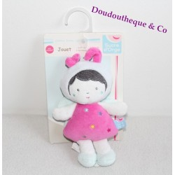Doudou petite fille déguisée en papillon SUCRE D'ORGE 18 cm