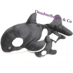 Plush Orque MARINELAND black and white 38 cm