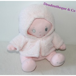 Doll cloth COROLLA pink white coat pink 25 cm