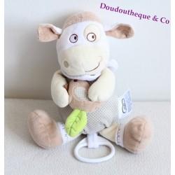 Peluche musicale mouton MOTS D'ENFANTS beige crème oiseau Leclerc 25 cm