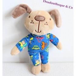 Doudou chien PRIMARK EARLY DAYS pyjama bleu voitures 22 cm