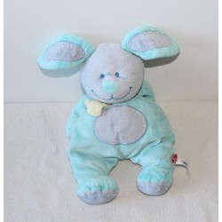 Peluche, doudou lapin TEX BABY vert 35cm