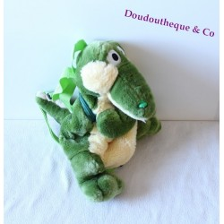 Crocodile the crocodile farm green beige plush kids backpack