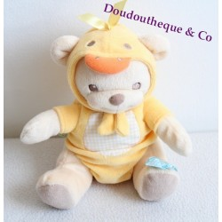 Doudou ours NATURE BEARRIES rose grelot