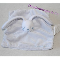 Doudou flat rabbit KIMBALOO My first blue softie 20 cm