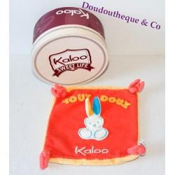 "Doudou plat Lapin KALOO collection Sweet Life orange 'Tout doux Kaloo"""