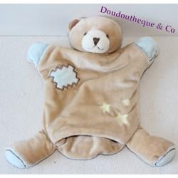 Doudou marionnette ours BEBE 9 étoile, nuage 21 cm