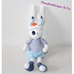 Doudou lapin TAPE A L'OEIL marin rayé bleu blanc TAO 38 cm