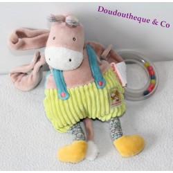 Doudou donkey MOULIN ROTY the cousins of the donkey mill of activities 26 cm