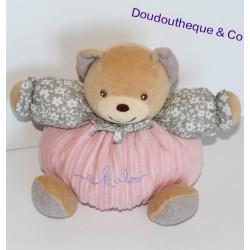 Doudou boule ours KALOO collection Bohème rose, gris et fleurs